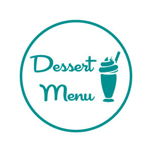 dessert menu white background