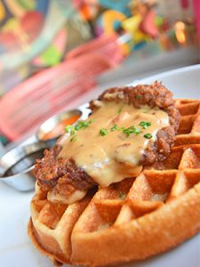 chicken and waffles from Ms Roses