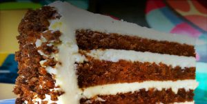 Carrot Cake slice from Ms roses
