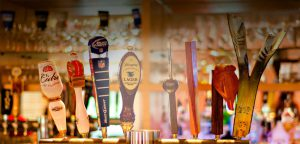 Happy Hour beer taps
