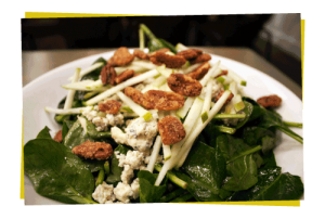 apple pecan and blue cheese salad Ms Roses