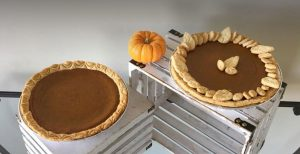 pumpkin pie with decorations