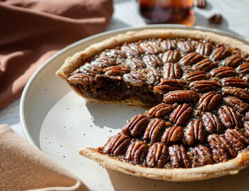 Salted Bourbon Caramel Chocolate Pecan Pie